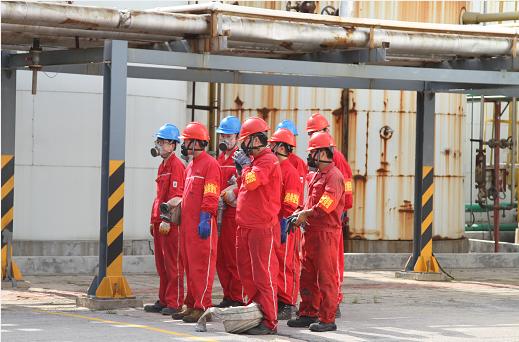 公司二分厂落实全员岗位安全责任制演习